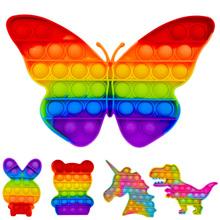 Push Bubble sensoryczna zabawka spinner Box Squishy prosta wgłębienie Figet antystresowy Reliever zabawka dla dorosłych dziecko zabawny antystresowy Reliever tanie tanio TAKARA TOMY CN (pochodzenie) 7-12y 12 + y Fidget Reliver Stress Toys Rainbow Push It Bubble Certyfikat europejski (CE) Zwierzęta i Natura