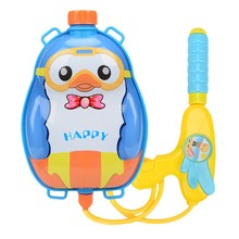 Water Jet Impact Water Jet Toy Summer Swimming Beach Water Game Toy Cartoon Outdoor Water Toy Beach Nozzle Backpack Set(China)