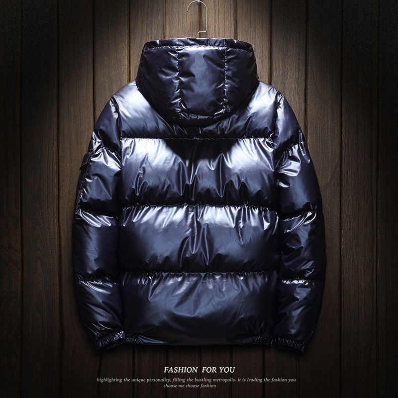 2019 男性ジャケットコート厚く冬ジャケット男性パーカーフード付き生き抜く綿が詰めジャケット韓国のファッション男の服 5XL