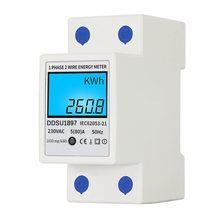 Digitale Elektrische Energie Meter Einphasig Din-schiene Strom Meter Eine Phase Zwei Draht Multifunktions Elektrische Meter Werkzeuge