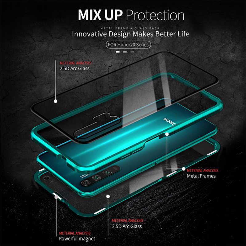 โลหะแม่เหล็กสำหรับ Xiao Mi สีแดง Mi หมายเหตุ 8 7 Pro K20 Pro กระจกนิรภัยสำหรับ Xiao Mi CC9 E 9T 9 Pro Mi 8 6X A2 A3 สาย USB