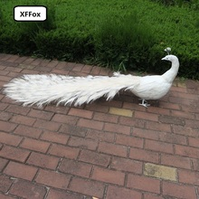 new big real life turned back peacock model foam&feather white long tail peacock bird gift about 150cm d0057 new simulation white bird model foam