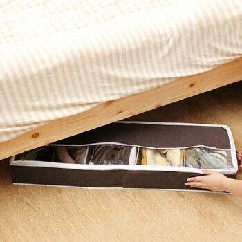 Nonwoven Visual Partition Shoe Cabinet Dust-proof Shoes Storage Bag Foldable Organizer Adjustable Holder Box Under Bed Closet