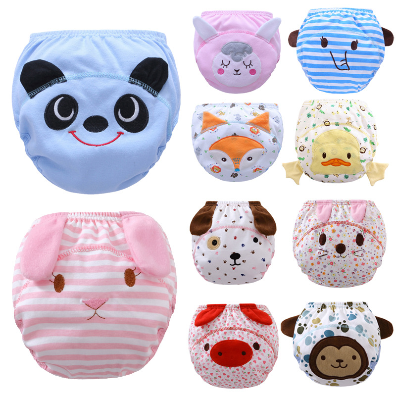 New Cute Pig 1Pcs Cute Baby Diapers Reusable Nappies Washable Infants Children Baby Cotton Training Pants Panties Nappy Changing