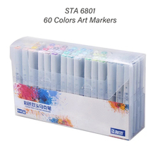 STA6801 60 Colors Art Markers Pens Set Dual Headed Animation Manga Sketch Oily Alcohol Based Painting Pens Brush Artist Supplies art markers set dual headed sketch alcohol drawing pens markers animation manga art supplies
