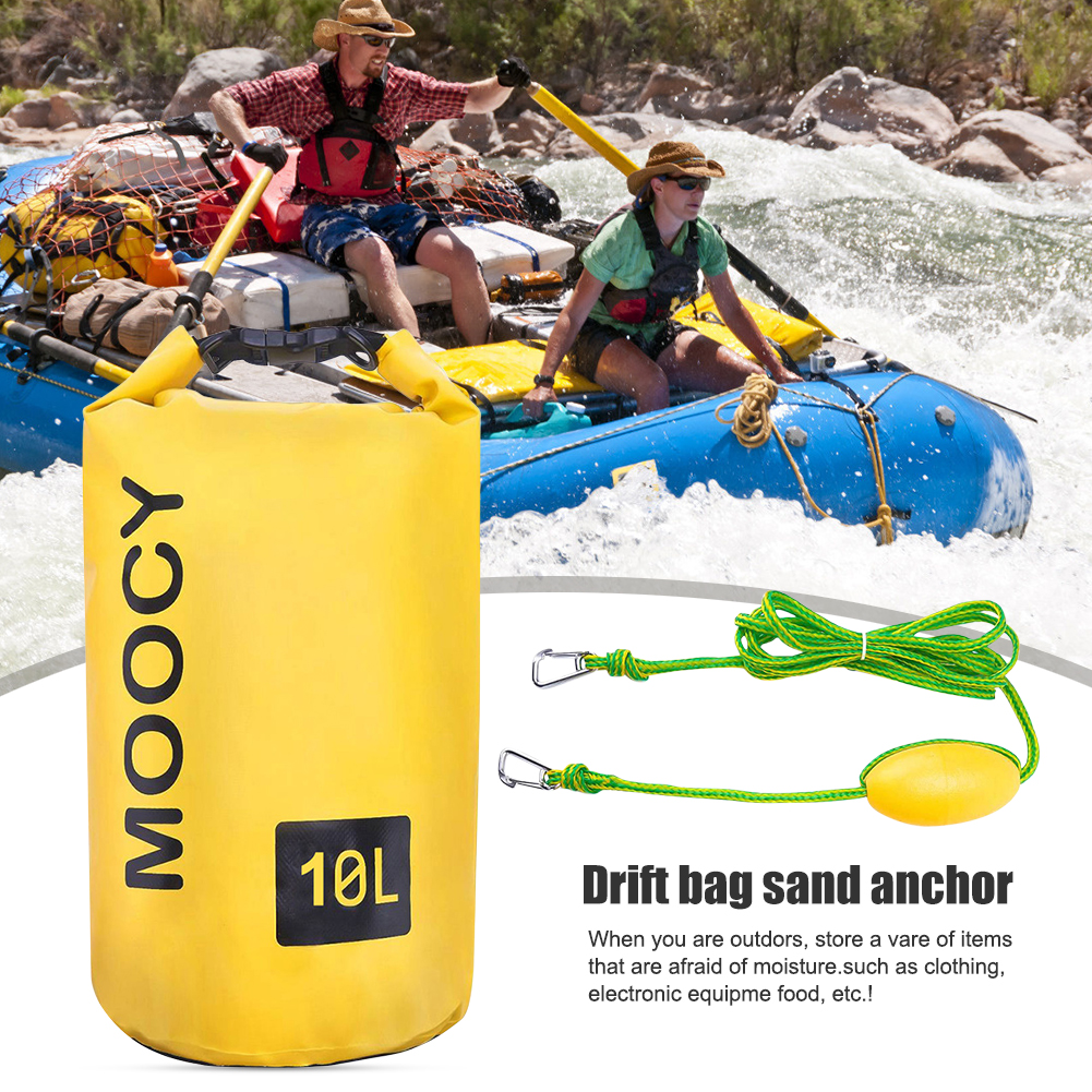 Tow Rope Sand Sack Sand Anchor Waterproof Dry Bag for Kayak Rowing Boat