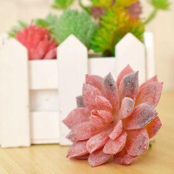 Hot sale new 7 types DIY Artificial Succulents Plant Garden Miniature Fake Cactus Home Floral Decor Plants Mini Desktop Bonsai