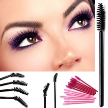 Eyelash Brushes Makeup Brushes Disposable Mascara Wands Applicator Eye Lashes Cosmetic Brush Makeup Tools 50 PCS недорого