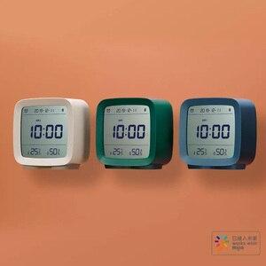 Image 2 - Youpin Qingping Bluetooth Temperatuur Vochtigheid Sensor Nachtlampje Lcd Wekker Voor Mihome App Controle Thermometer