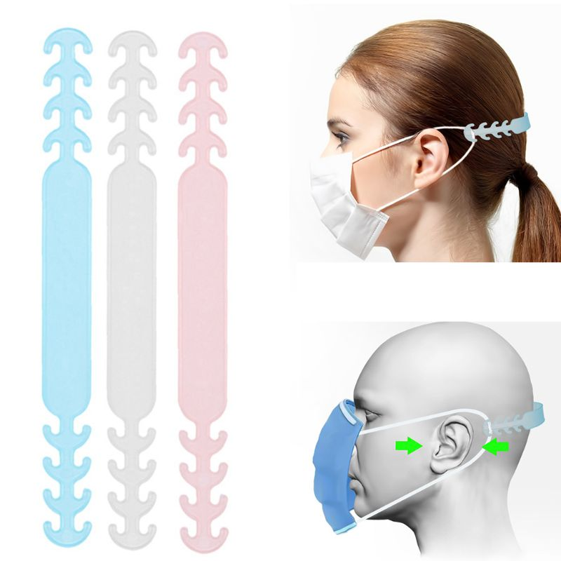 1/5/10PCS Soft Anti-slip Face Mask Ear Hooks Adjustable Buckle Earache Prevention Fixer