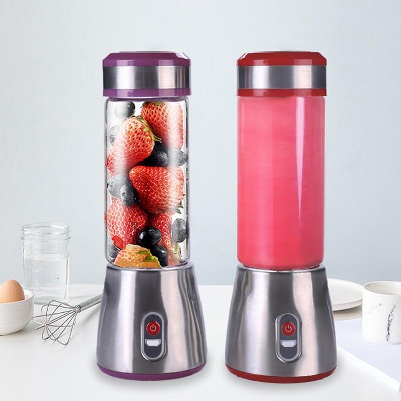 Mini Electric Usb Rechargeable Portable Blender Smoothie Maker Juicer Cup Shaker Squeezer Lemon Fruit Orange Juice Extractor Juicers     - title=