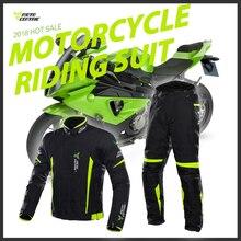 Motocentric Chaqueta de motocicleta para hombre, conjunto de protección para motocicleta a prueba de viento, impermeable, para montar en Moto, chaqueta + Pantalones, traje, armadura corporal