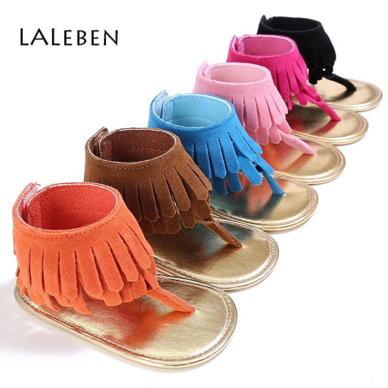 Summer Baby First Walkers Artificial PU Tassel Baby Walking Shoes Toddler Girl Shoes Multi Color Little Girl Newborn Footwear