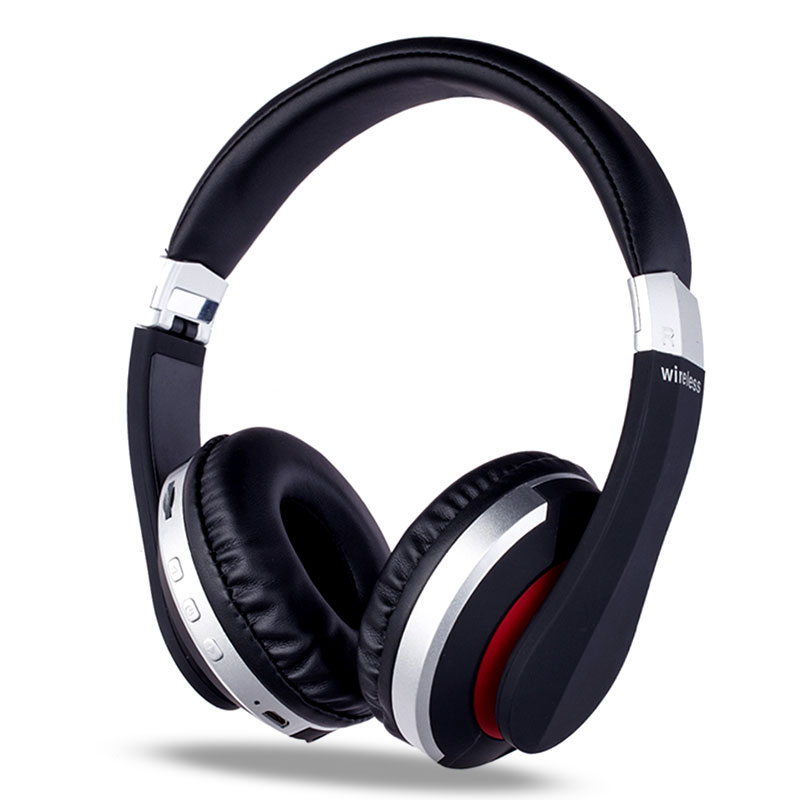 MH7 Wireless Bluetooth Headphones Foldable Stereo Sport <font><b>Gaming</b></font> <font><b>Earphones</b></font> <font><b>With</b></font> <font><b>Microphone</b></font> Support TF Card For IPad Mobile Phone image