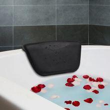 Cojín de baño Spa caliente XD, cojín para bañera PU con ventosas antideslizantes, reposacabezas ergonómicas de Spa para relajar la cabeza, el cuello, la espalda y