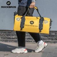 ROCKBROS Gym Bag Waterproof Portable Sport Bag Large 60L Capacity Reflective Fitness Yoga Bag Shoulder Travel Pannier