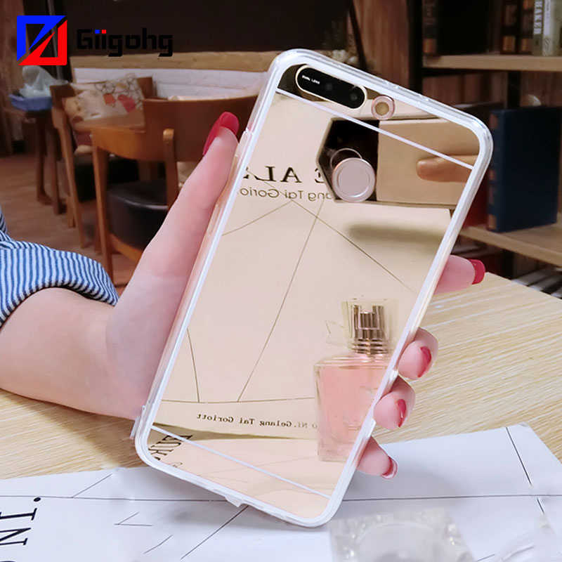 Mirror Soft Silicone Case for Huawei P30 P20 P8 P9 Lite mini 2017 P10 P Smart 2019 Plus Y5 Y6 Y7 Prime Pro 2018 2017 Cover Phone