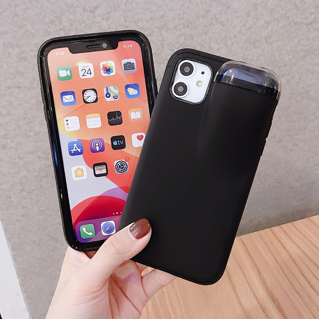 2 In 1 iPhone Cases For With Air Pods Holder