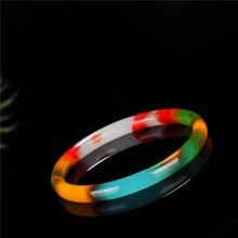 Ожерелье из настоящего природного Цвет нефритовый украшение, очаровательный браслет ювелирные изделия аксессуары ручной резной Лаки амулет подарки для Для женщин ее Для мужчин