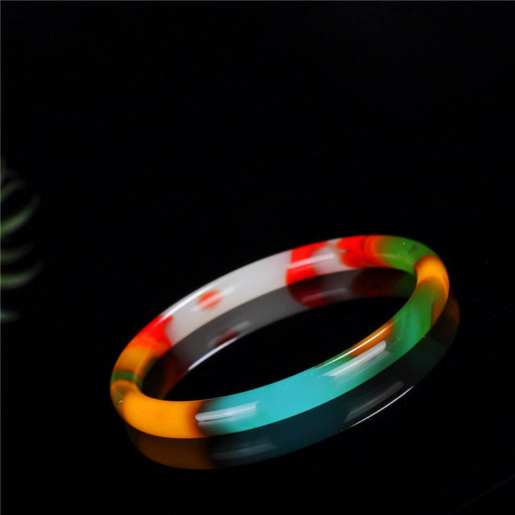Genuine Natural Color Jade Bangle Bracelet Charm Jewellery Fashion Accessories Hand-Carved Lucky Amulet Gifts for Women Her Men