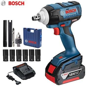 Bosch-llave de impacto inalámbrica, 18V, batería de litio, llave eléctrica recargable, GDS...