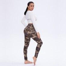 Новые модные брюки с высокой талией женские облегающие гимнастические джинсовые приталенные Стрейчевые штаны женские большие размеры сексуальные камуфляжные штаны