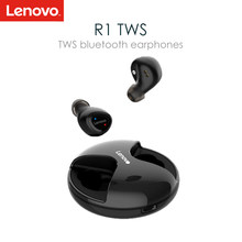 Lenovo R1 TWS Wireless Earphones Bluetooth 5.0 IPX5 Waterproof HiFi In-ear Earbuds with Mic and Charging Dock for Mobile Phone(China)