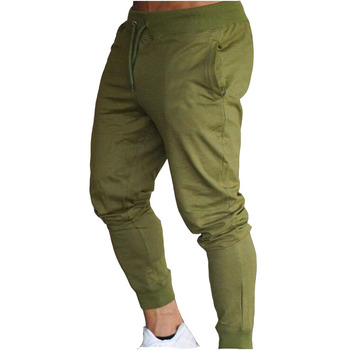 2019 New Men Joggers Brand Male Trousers Casual Pants Sweatpants Men Gym Muscle Cotton Fitness Workout hip hop Elastic Pants 2