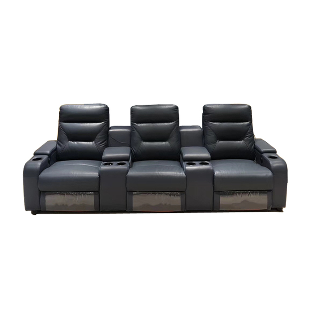 manual electric recliner relax massage swivel chair theater living room Sofa functional genuine leather couch Nordic modern дива