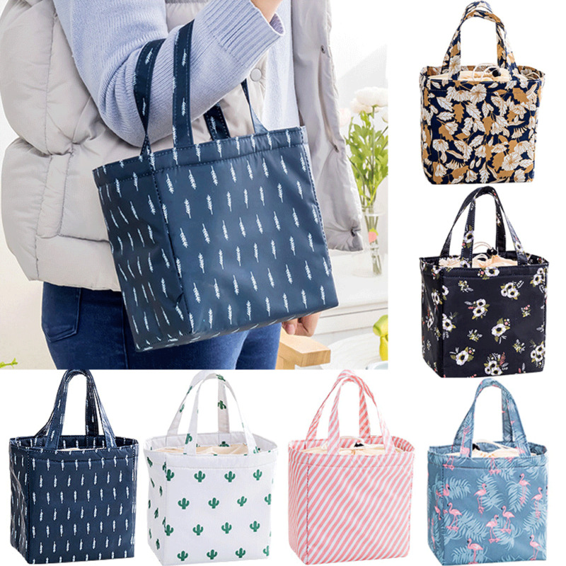 Waterproof Oxford Lunch Bag Picnic Camping Thermal Cooler Food Drink Cool Insulated Large Portable Bag For Women Kids Students