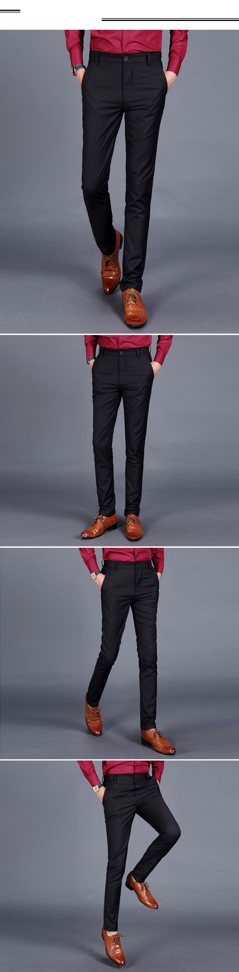 H15a72587d3e8467ab70ff1dbe9a96726V HCXY 2019 Summer Men's Smart Casual Pants Men Slim Straight Suit Pants Male Trousers Thin Smooth fabric Solid classic trousers