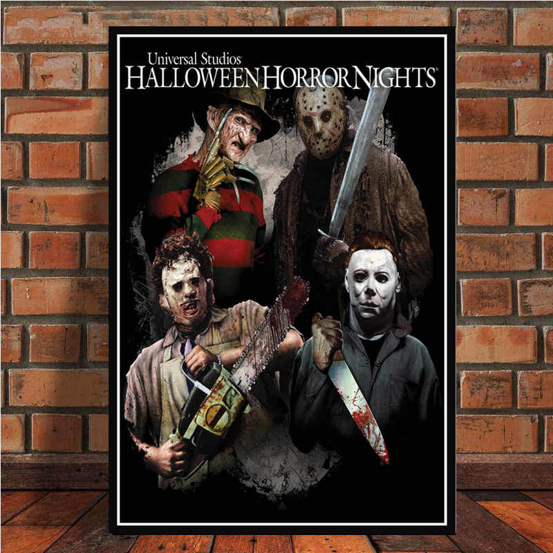 Classic Horror Movie Poster Prints Canvas Art Painting Wall Pictures For Living Room Home Decor No Frame