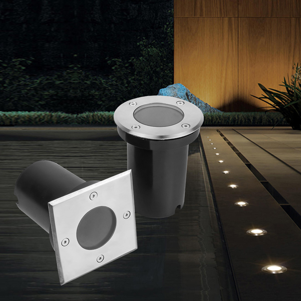 LED Buried Light IP67 GU10 MR16 12v 85-265V LED Underground Lights Outdoor Recessed Spot Yard Landscape Lighting Path Floor Lamp