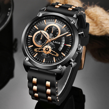 2020 Warterproof Watch Sports Silicone Mens Watches LIGE Top