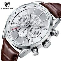Nuovo orologio da uomo ghepardo moda Business cronografo orologi orologio da polso in pelle impermeabile di lusso con quadrante grande di marca superiore