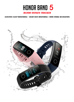 blood oxygen Honor band 5 smart band AMOLED Huawe honor smart watch heart rate fitness sleep swimming sport tracker 1