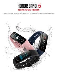 Image 2 - Phiên bản toàn cầu Tùy Chọn Danh Dự ban nhạc 5 Dây đeo thông minh AMOLED nhịp tim thể dục ngủ bơi thể thao oxy trong máu theo dõi