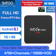 French IPTV France Italy Arabic Portugal Turkey IP TV DATOO MX9Pro Android 8.1 1G+8G Italian Box
