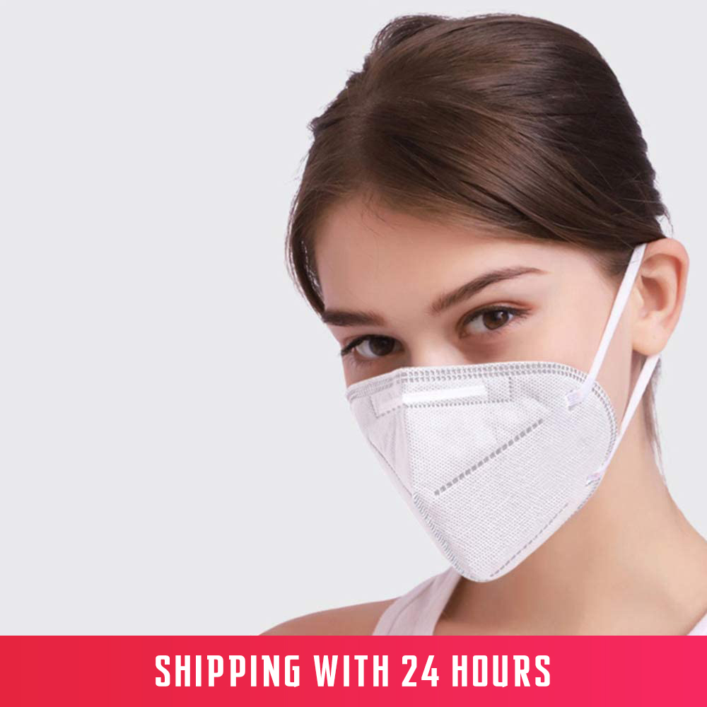 KN95 Face-Masks Disposable  FFP2 Protective Mask Safety Masks 99% Filtration For Dust Particulate Pollution N95 Protection