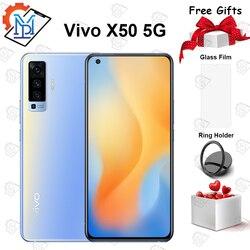 Смартфон Vivo X50, мобильный телефон, экран AMOLED 6,56 дюйма, 8 ГБ + 128 ГБ, Snapdragon 76, Восьмиядерный процессор, 20x, цифровой зум, NFC