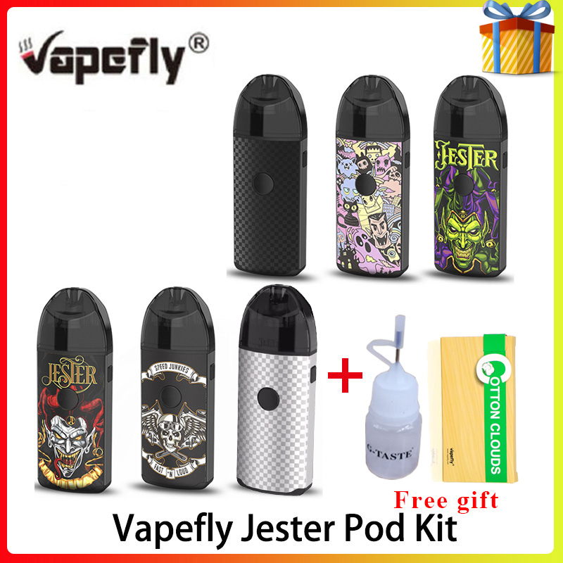 Original Vaporizer Cigarette Kit Vapefly Jester Pod Kit 1000mAh Battery DIY Pod Fit Mesh Coil Version Pod Vape Kit Vs Frenzy Pod