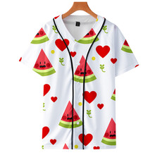Baseball-Jersey Bomber Customized Youth Men Graphic Fruits Printing 3d-Colour And Men's