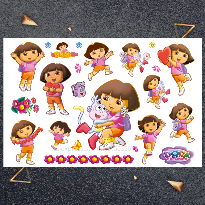 Hasbro Dora Monkey Sticker Children Cartoon Temporary Tattoo Sticker For Boys Cartoon Toys Waterproof Party Kids Gift