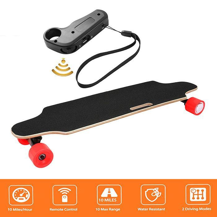 4 Wheels <font><b>Electric</b></font> Skateboard <font><b>Scooter</b></font> Maple Deck Longboard E-<font><b>Scooter</b></font> with Wireless Remote Controller <font><b>250W</b></font> <font><b>Electric</b></font> Skateboards image
