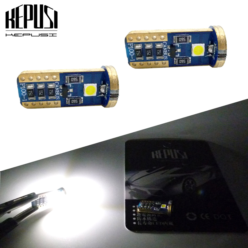 5Pcs W5W 168 194 T10 COB LED COB Car Indicator Side Light Wedge Lamp Bulbs 12V