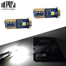цена на 2PCS Car Lights T10 LED 194 168 SMD For W5W Led White LED Wedge Side Bulbs Lamp 12V Parking Bulb Car External Clearance Lights