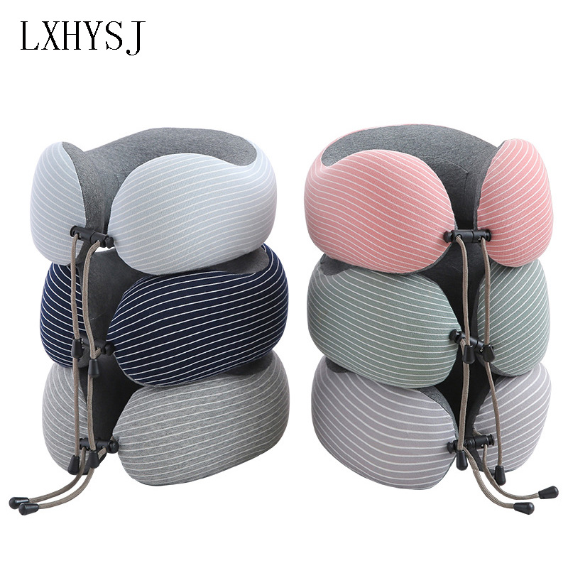 Memory Cotton U Type Neck Pillow Aircraft Travel Neck Pillows Neck Cushion Unisex Office Siesta Neck Pillow Travel Accessories