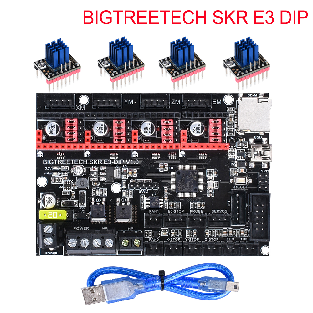 BIGTREETECH SKR E3 DIP V1.0 Control Board 32Bit+TMC2208 TMC2130 TMC5160 3D Printer Parts For Ender 3/5 Pro VS SKR V1.3 Mini E3