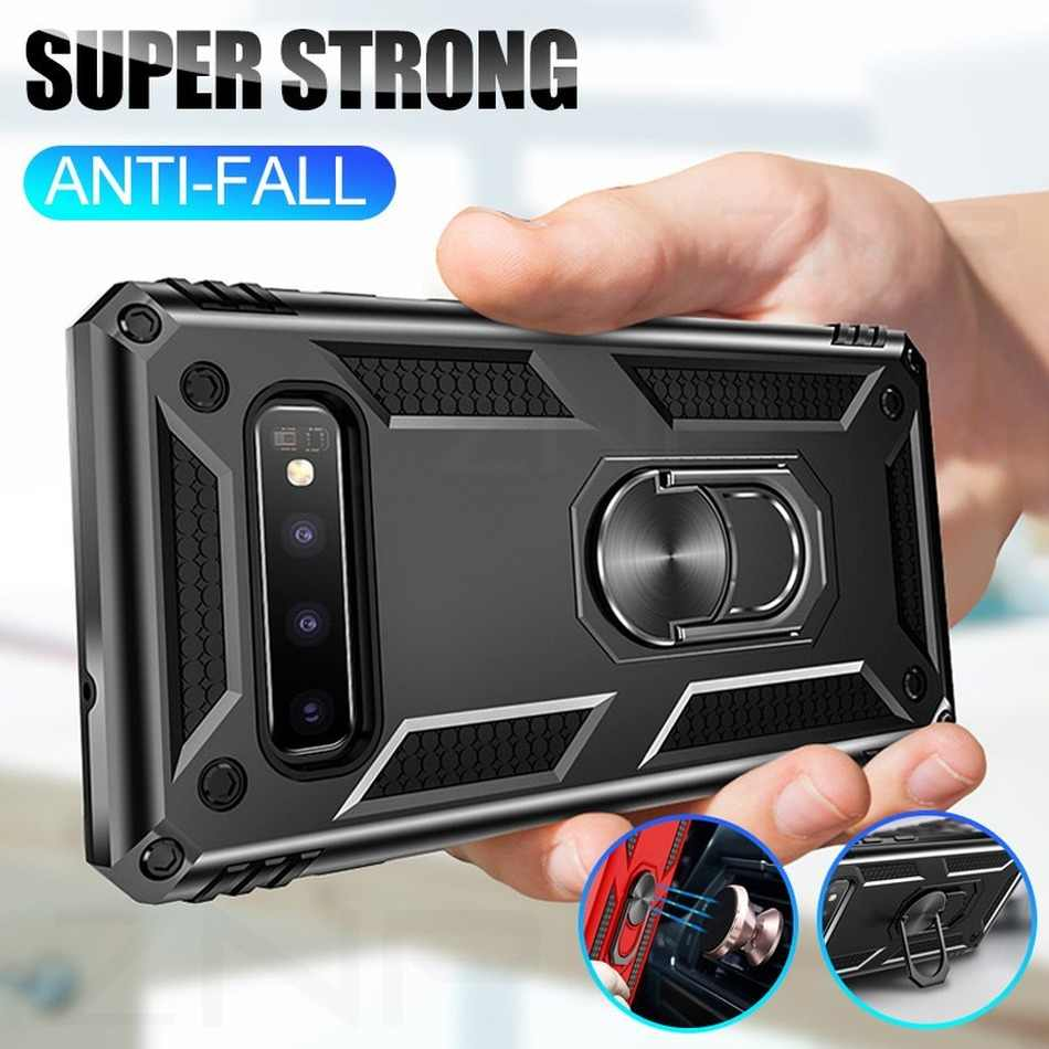 Anel magnético Stand Case Telefone Para Samsung A30 A50 A40 A70 A10 A50S A20 Caso Capa À Prova de Choque Para Galaxy Note 8 9 J4 J6 J5 2018