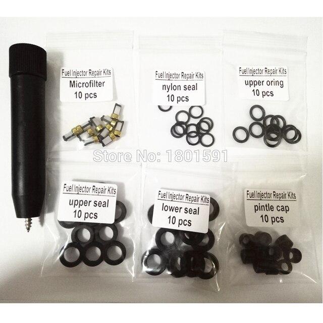 10set kraftstoff injektor reparatur kits filter entfernung werkzeug 23250 28080 23250 0H030 fit für Toyota Corolla Camry 2,4 L mit freies schiff
